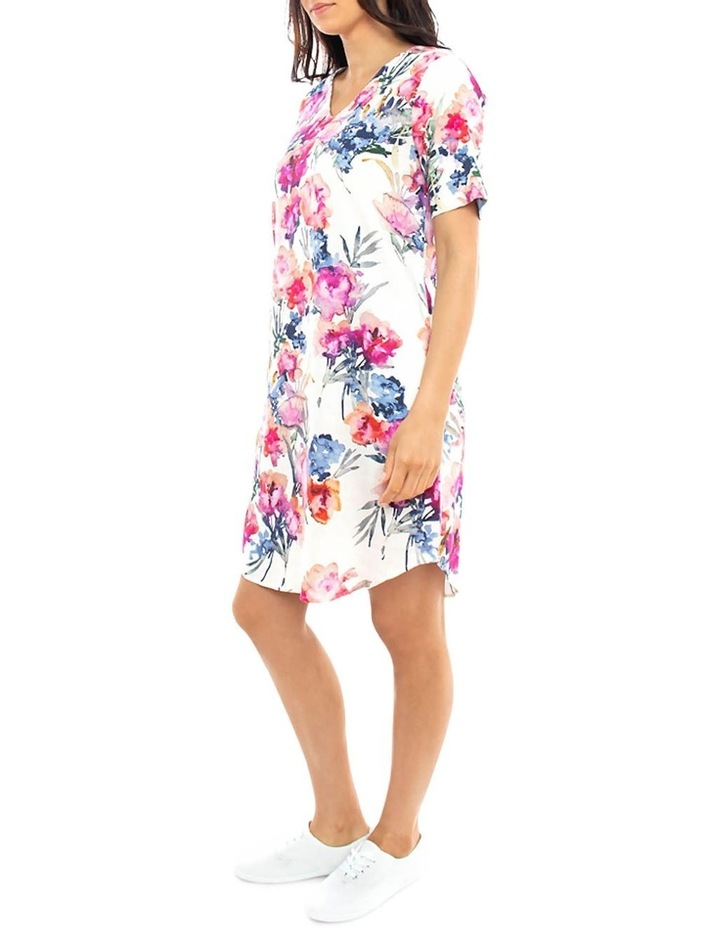 S/Slv Floral Print Dress image 2