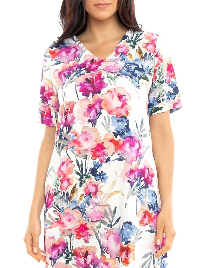 S/Slv Floral Print Dress image 3