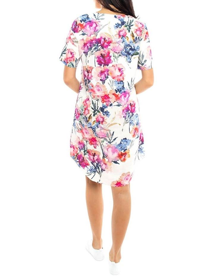 S/Slv Floral Print Dress image 4