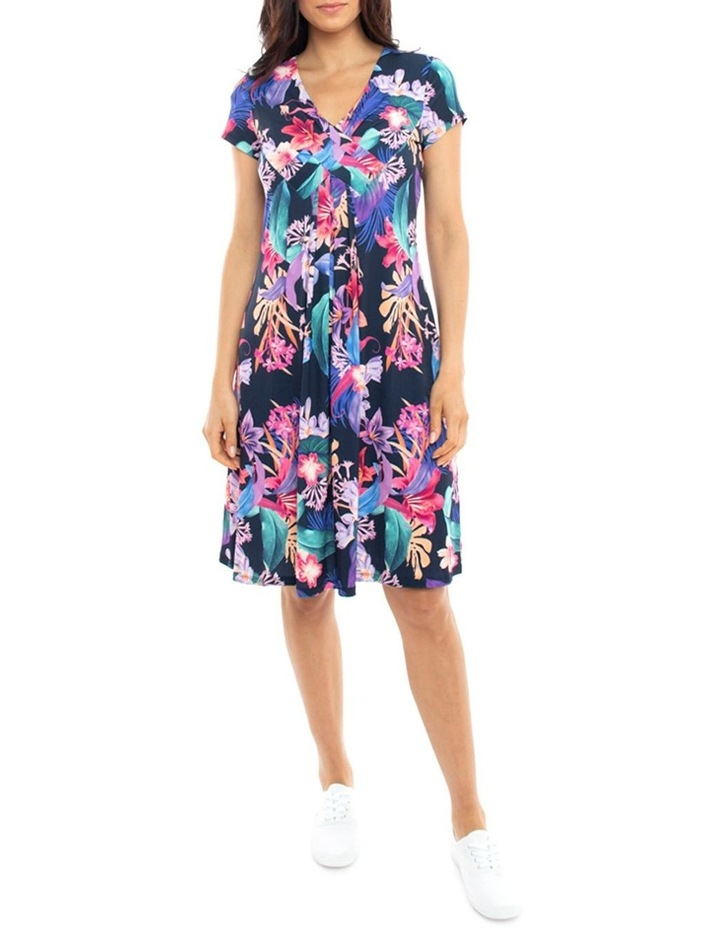 Cross Front Jersey Floral Dress image 1