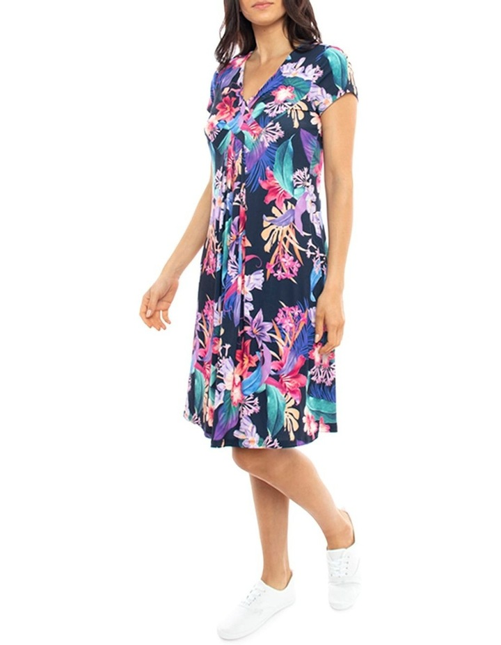 Cross Front Jersey Floral Dress image 2