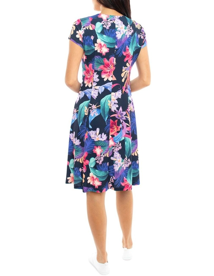 Cross Front Jersey Floral Dress image 4