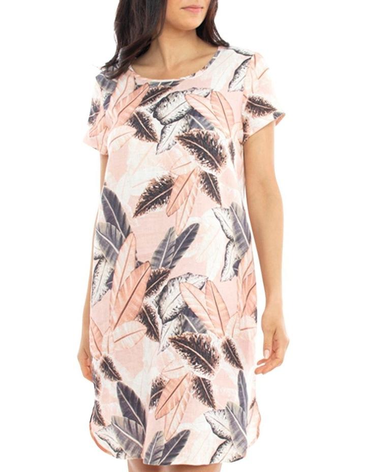 Linen Leaf Print Dress image 1