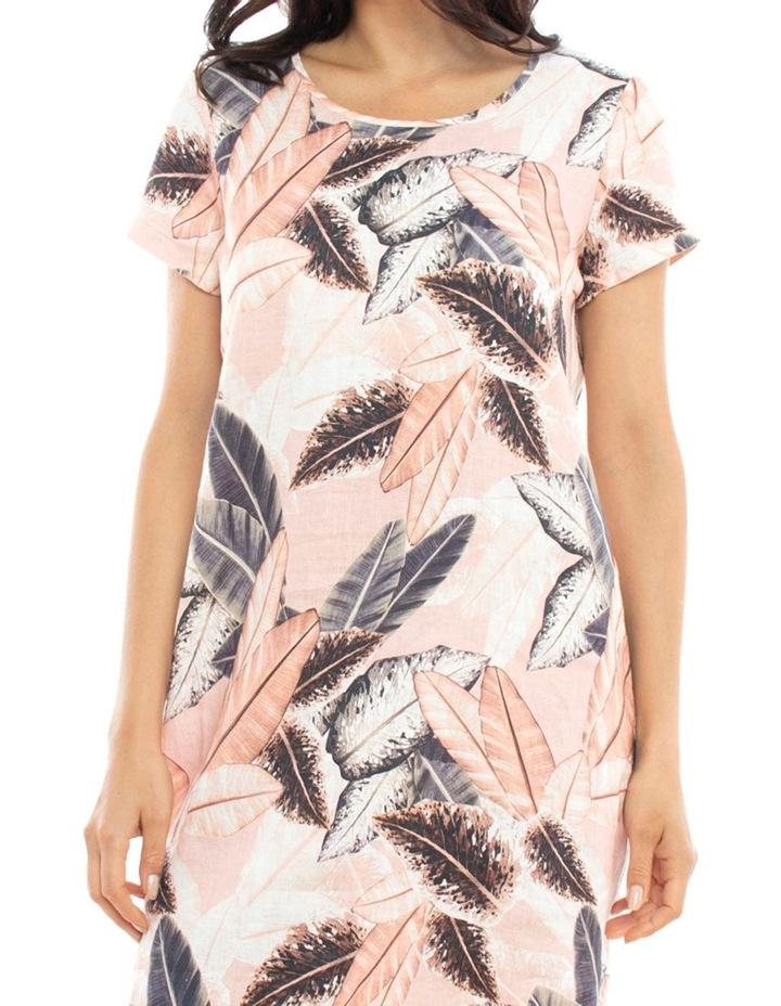 Linen Leaf Print Dress image 2