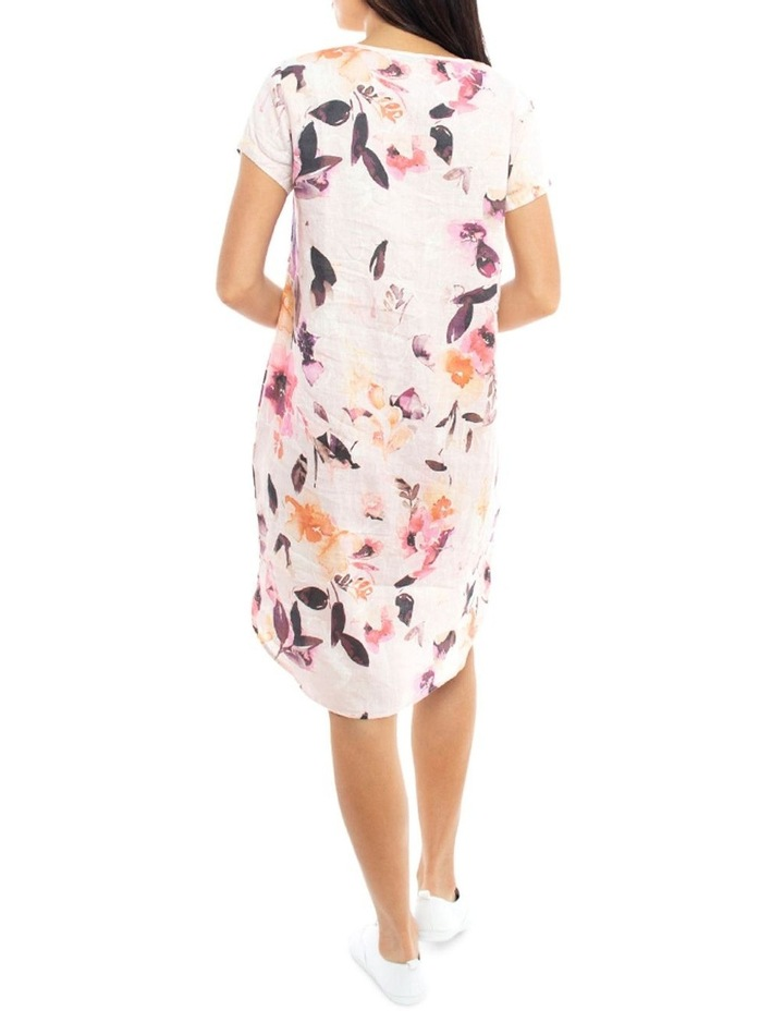 Linen Leaf Print Dress image 4