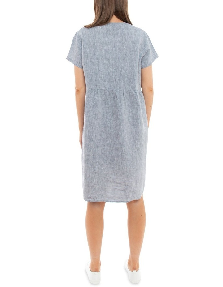 Sleeveless Button Thru Linen Dress image 4