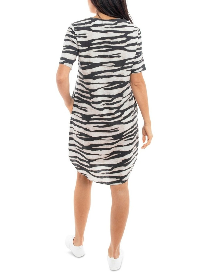 Short Sleeve Abstracty Zebra Dress image 3