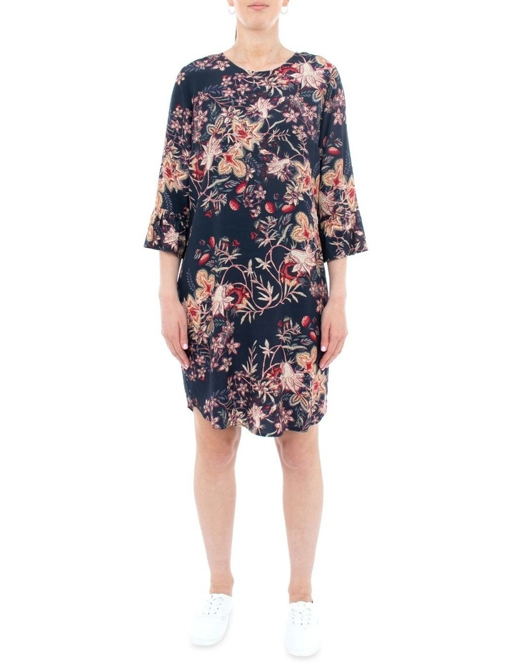 Tapestry Floral Flounce Sleeve Dress image 1