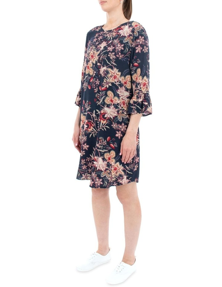 Tapestry Floral Flounce Sleeve Dress image 2
