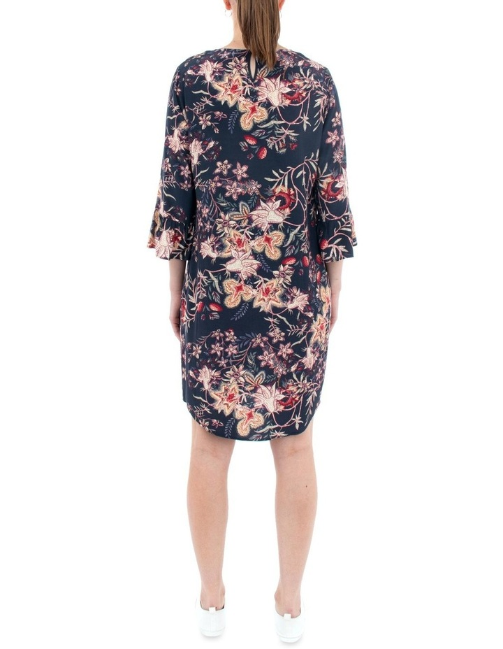 Tapestry Floral Flounce Sleeve Dress image 3