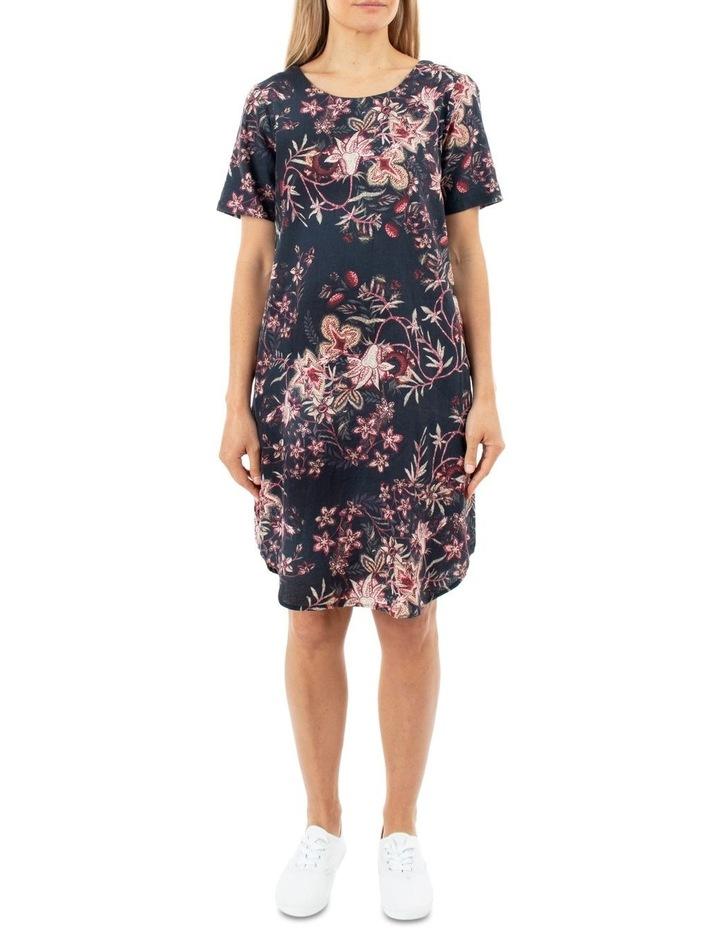 Short Sleeve Tapestry Dress image 1