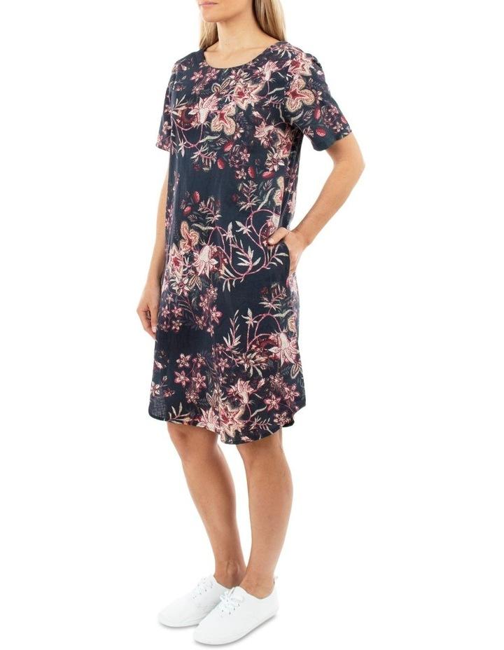 Short Sleeve Tapestry Dress image 2