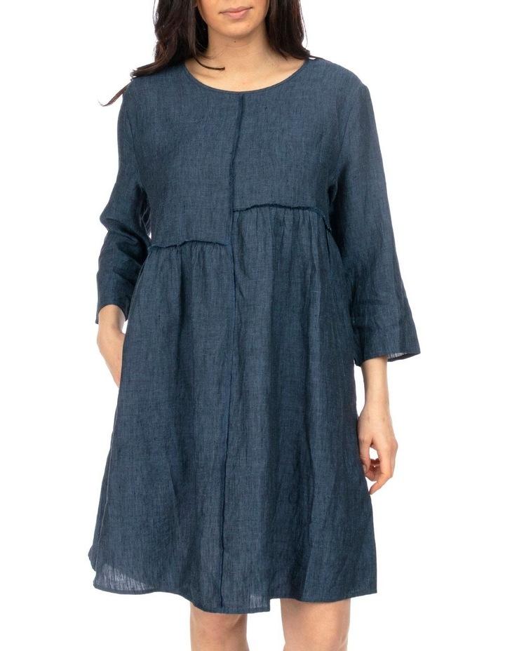 Raw Seam Linen Dress image 1