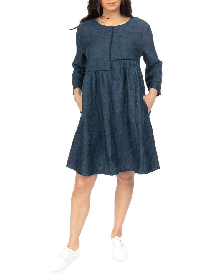 Raw Seam Linen Dress image 2