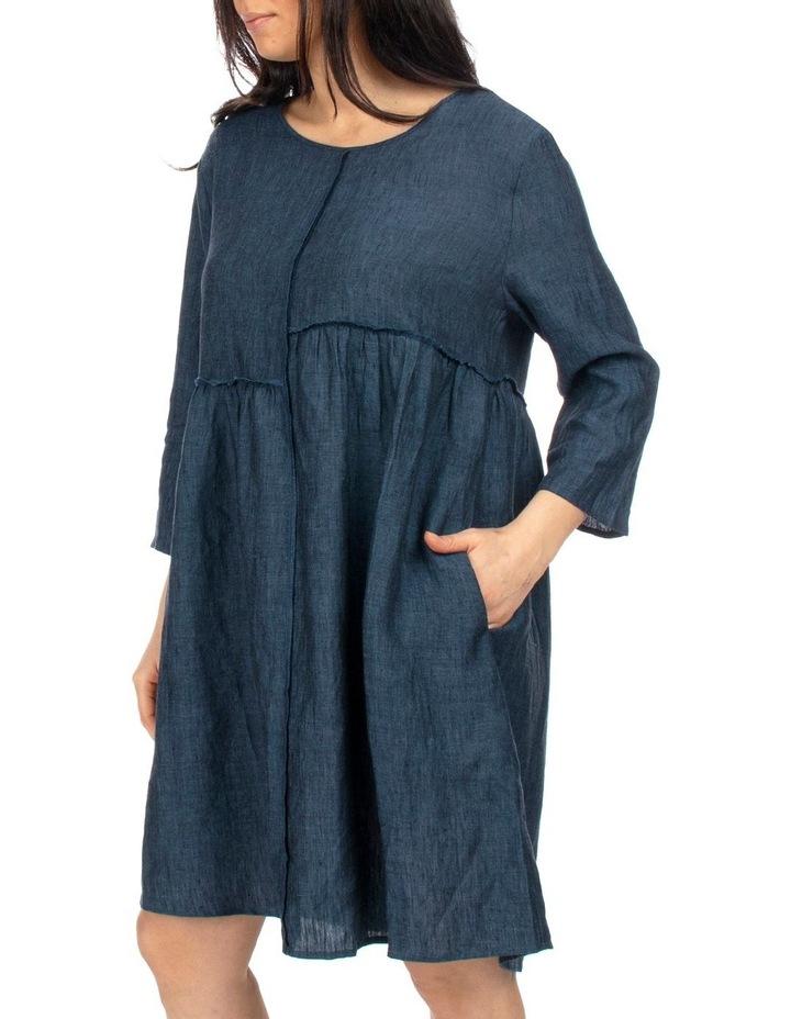Raw Seam Linen Dress image 3