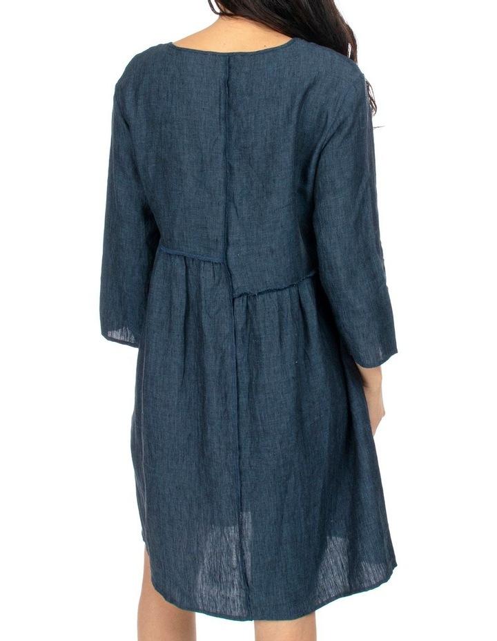 Raw Seam Linen Dress image 4