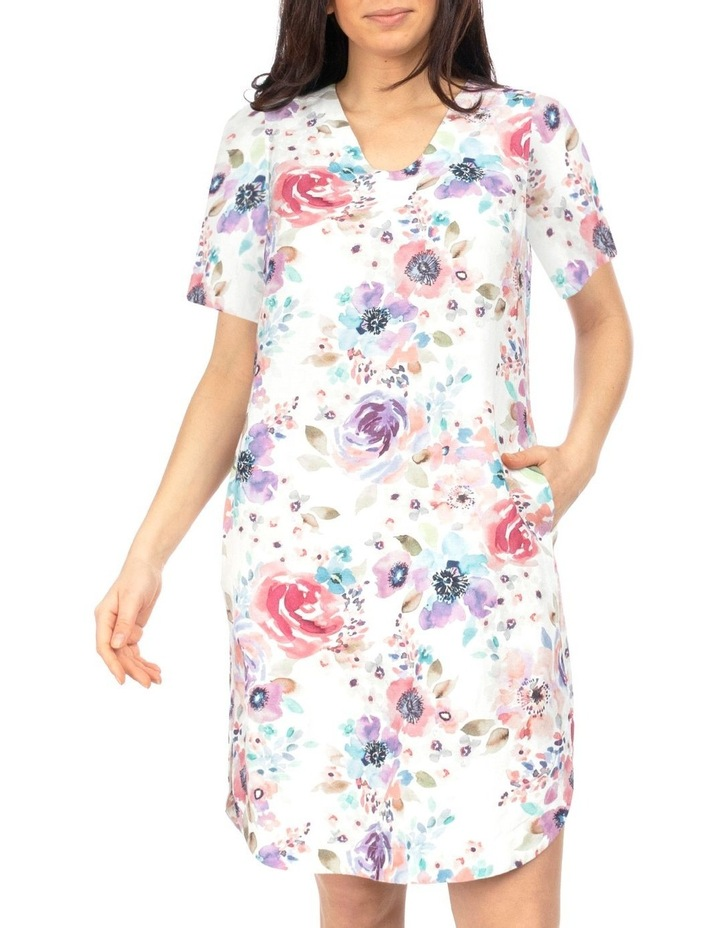 Short Sleeve Poppy Print Dress image 1
