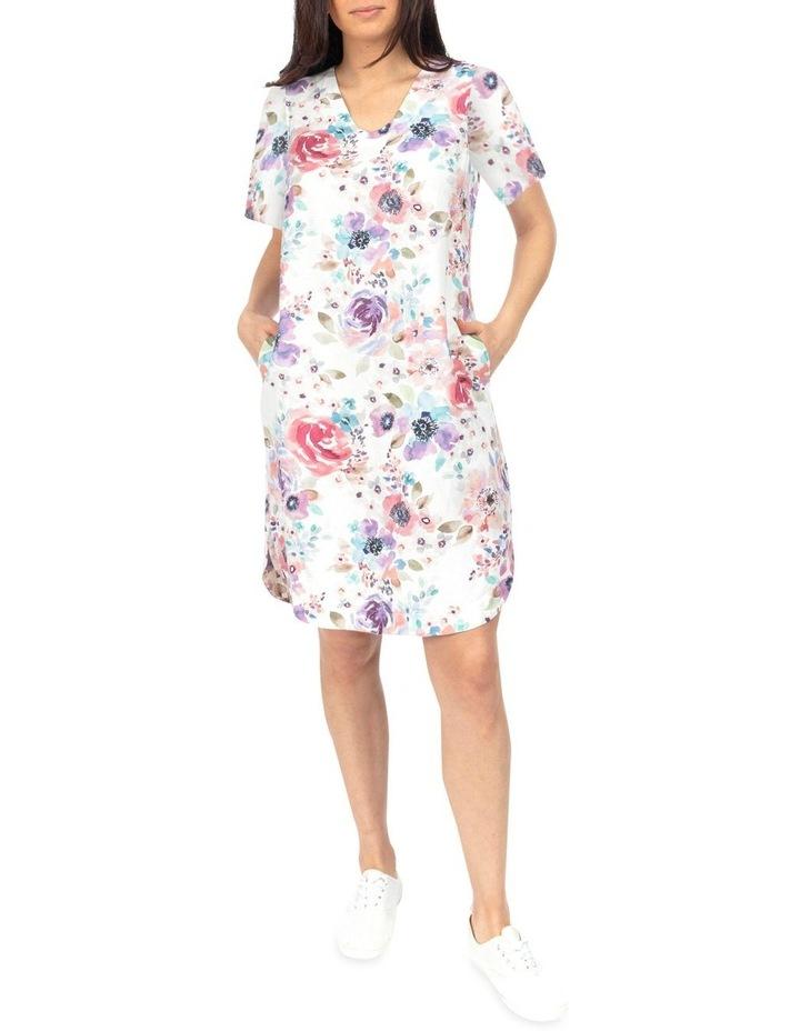 Short Sleeve Poppy Print Dress image 2