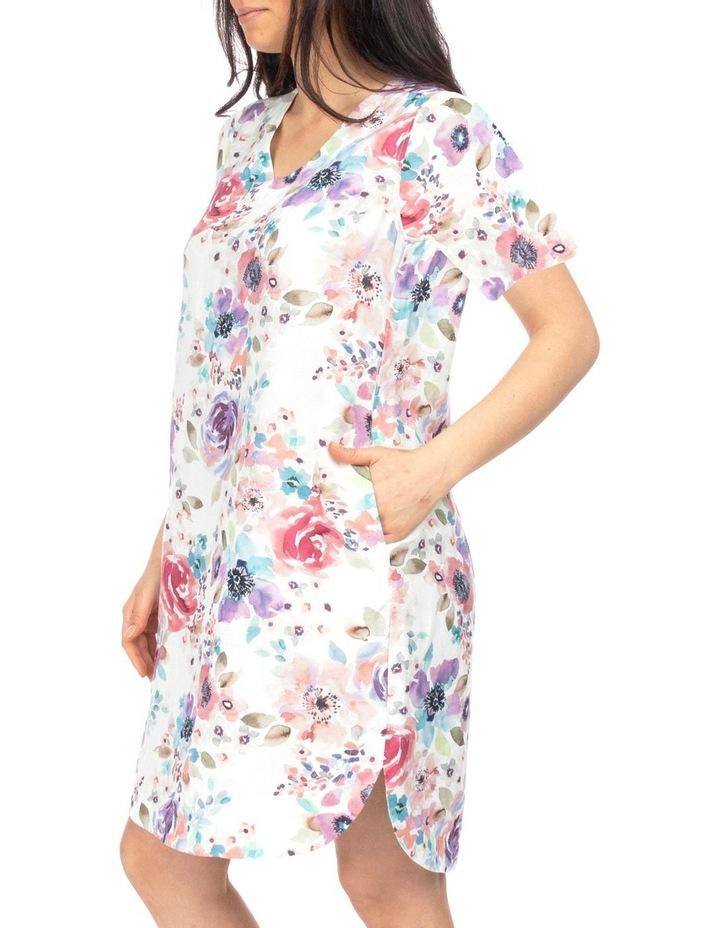 Short Sleeve Poppy Print Dress image 3