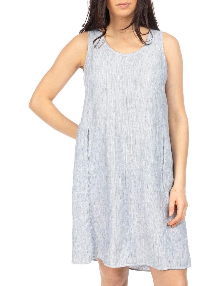 Stripe Pleat Back Dress image 1