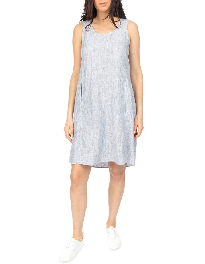 Stripe Pleat Back Dress image 2