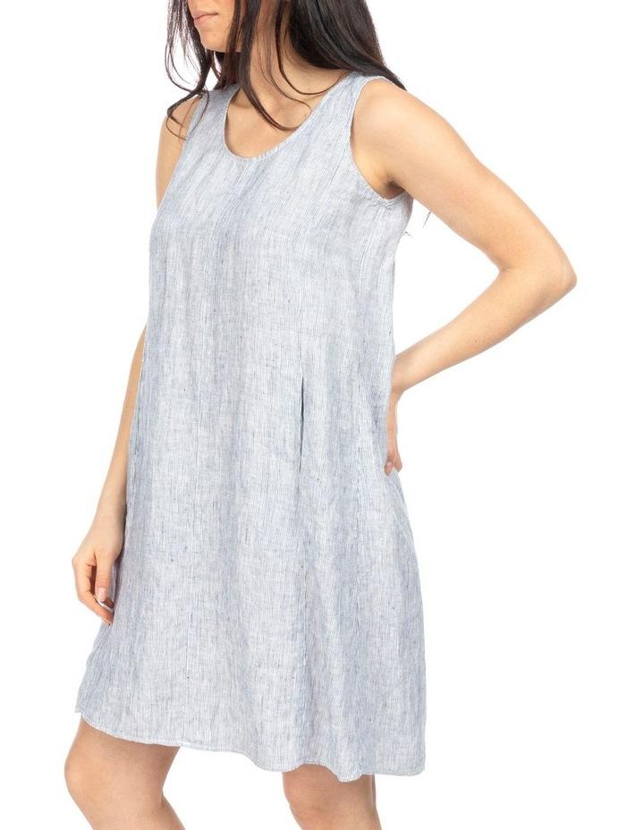 Stripe Pleat Back Dress image 3