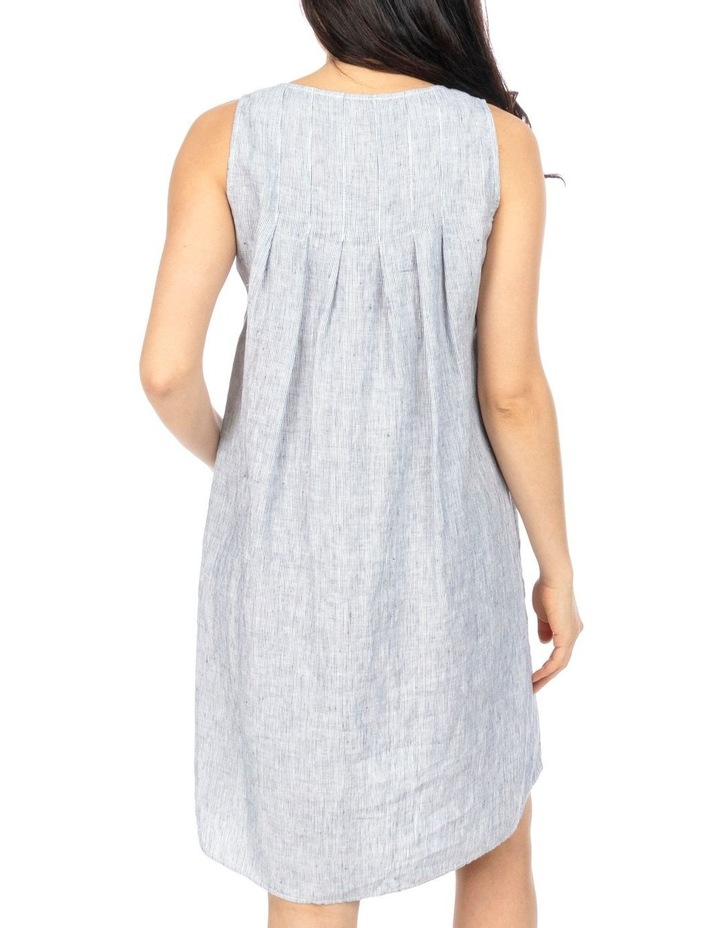 Stripe Pleat Back Dress image 4