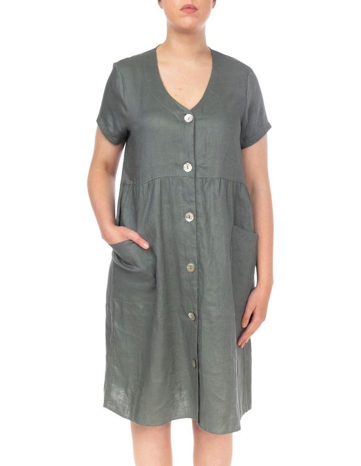 Button Thru Linen Dress image 1