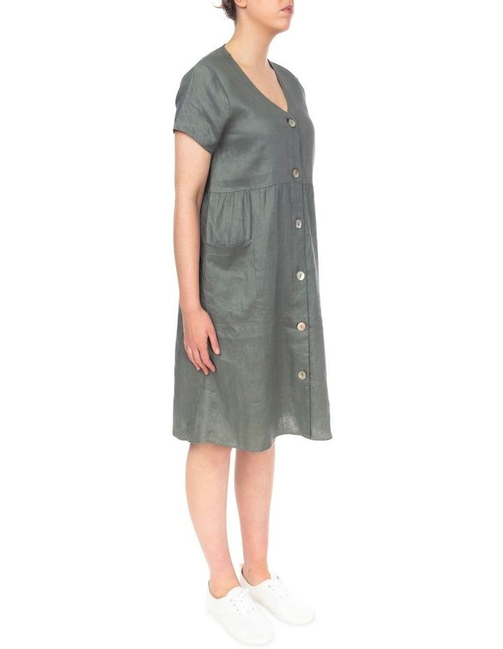 Button Thru Linen Dress image 2