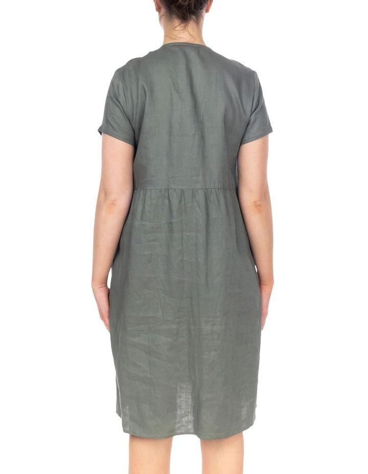 Button Thru Linen Dress image 3