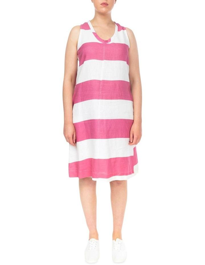 Block Stripe Linen Dress image 1