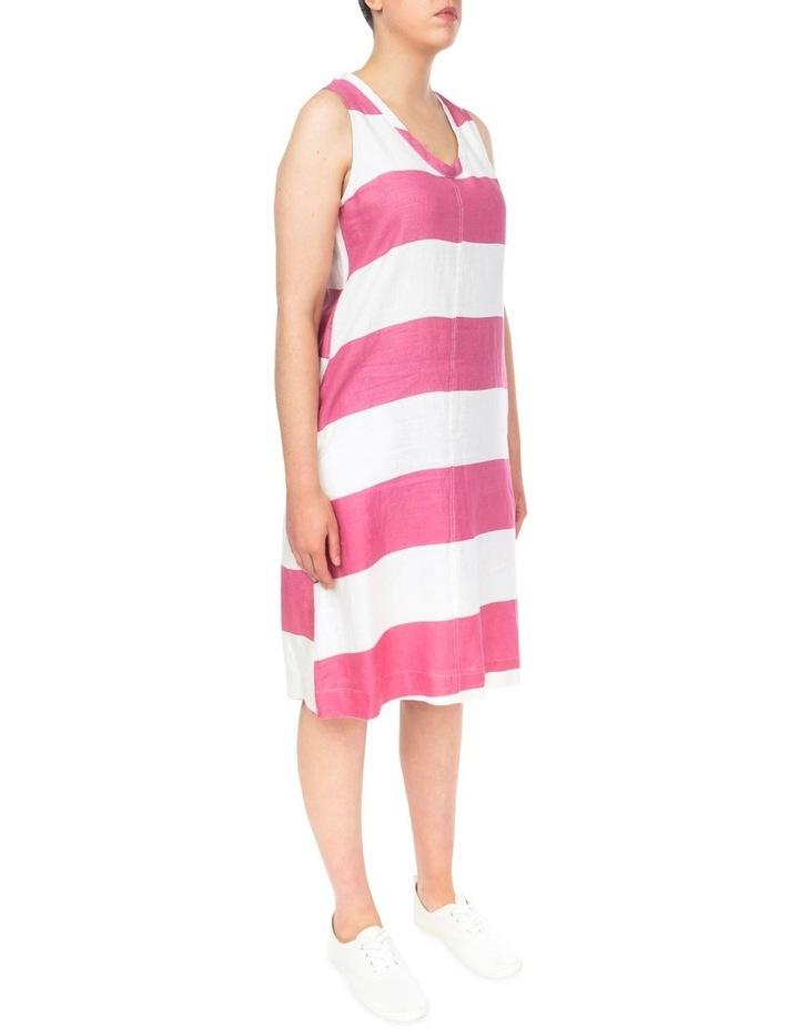 Block Stripe Linen Dress image 3