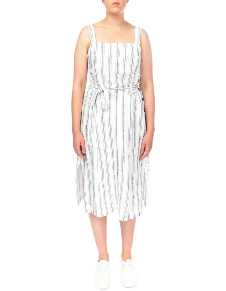 Stripe Button Detail Dress image 1