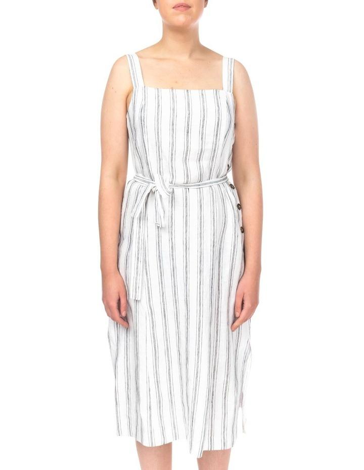 Stripe Button Detail Dress image 2