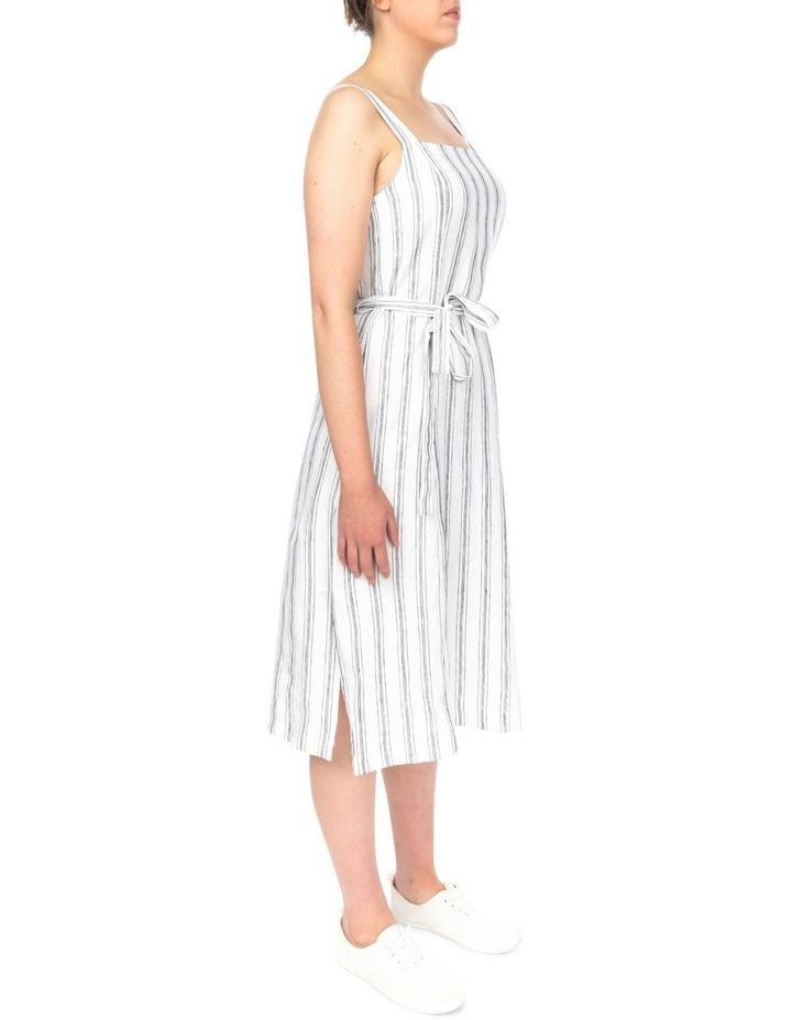 Stripe Button Detail Dress image 3