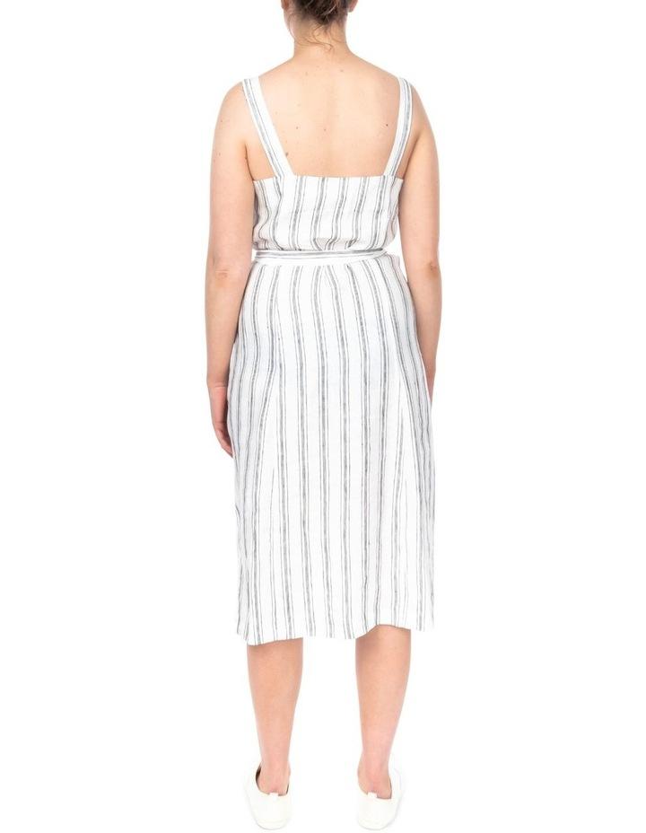 Stripe Button Detail Dress image 4