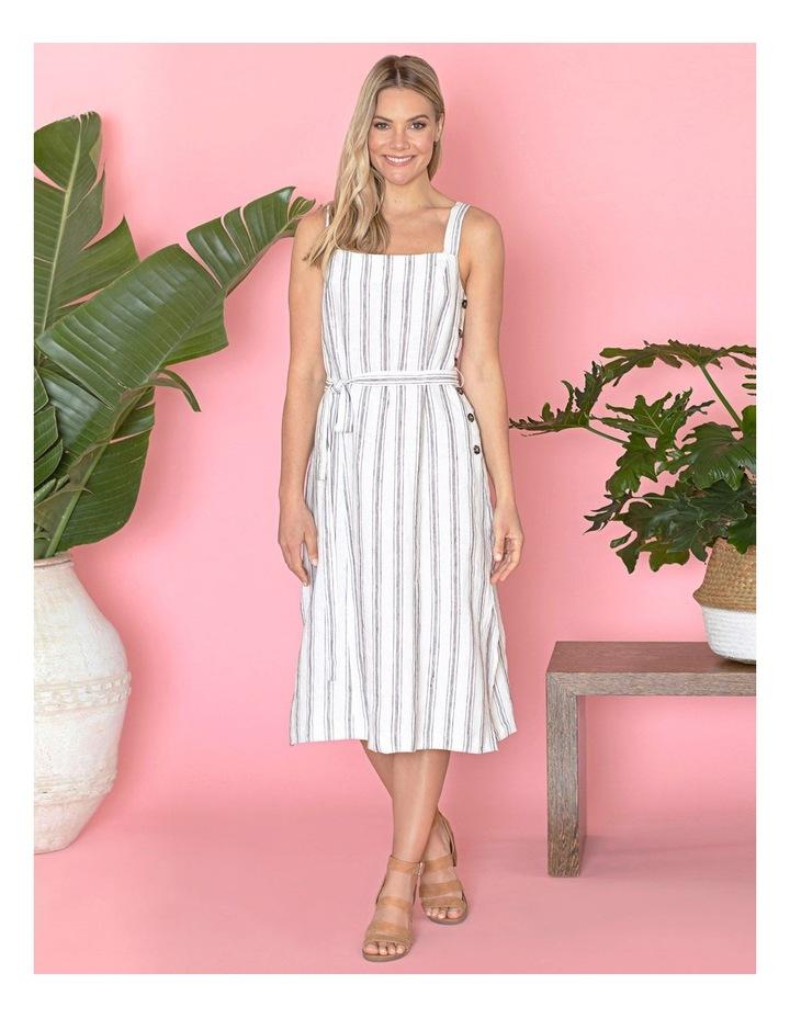 Stripe Button Detail Dress image 5