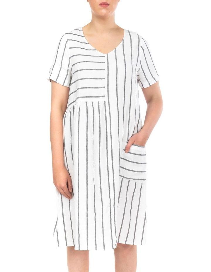 Wide Stripe Panelled Dress image 1