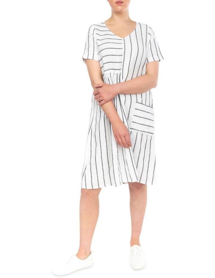 Wide Stripe Panelled Dress image 2