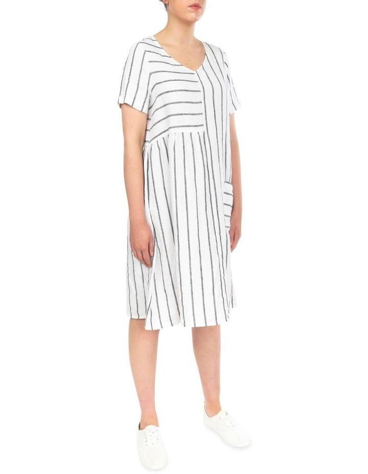 Wide Stripe Panelled Dress image 3