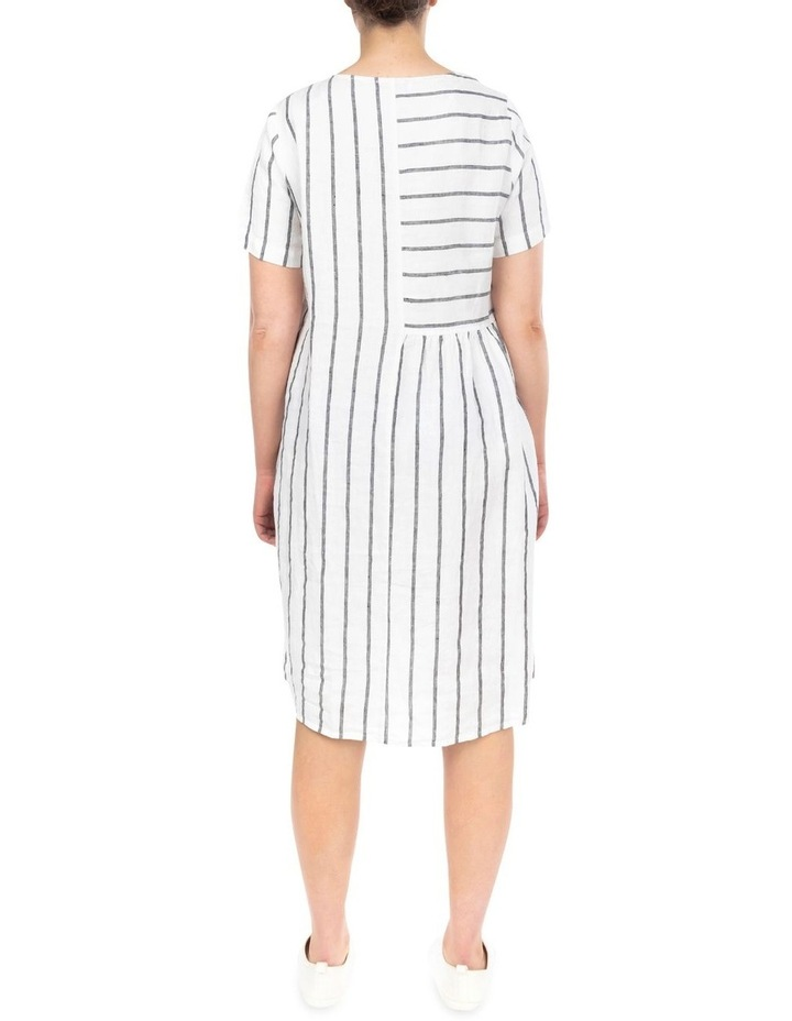 Wide Stripe Panelled Dress image 4