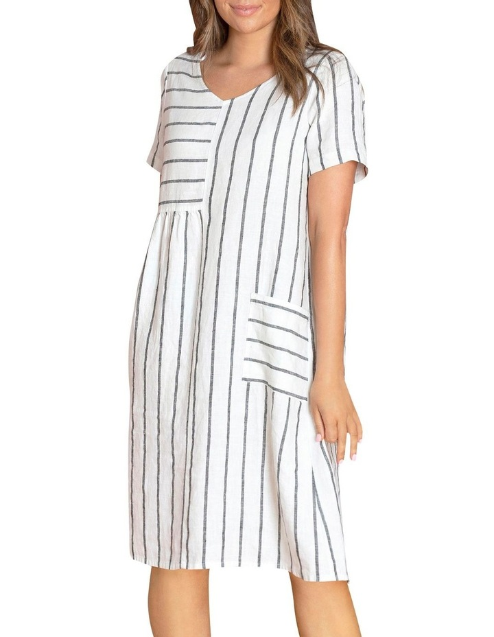 Wide Stripe Panelled Dress image 5