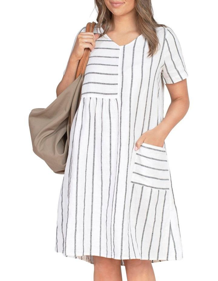 Wide Stripe Panelled Dress image 6