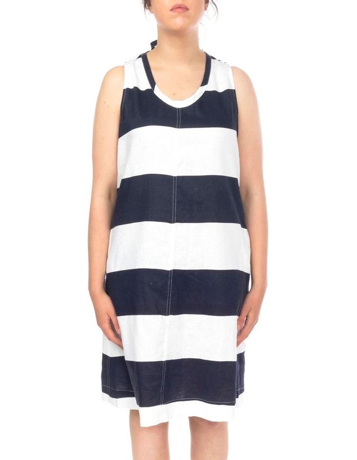 Block Stripe Linen Dress image 2