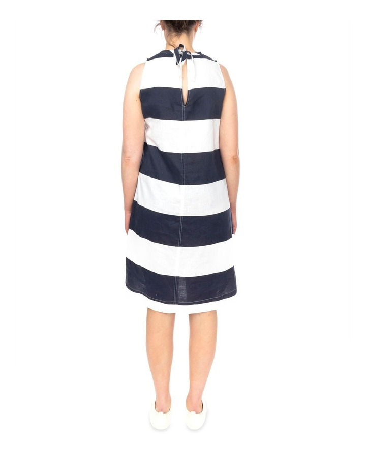 Block Stripe Linen Dress image 4