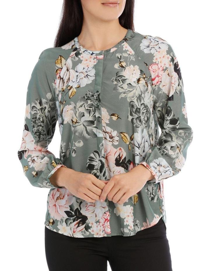 Long Sleeve Rose Print Shirt image 1