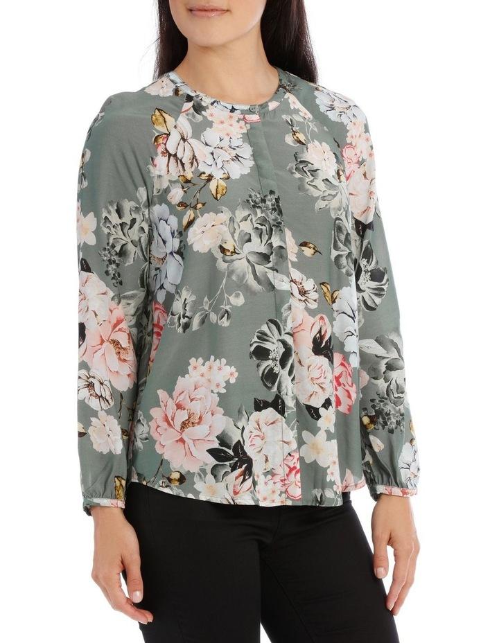 Long Sleeve Rose Print Shirt image 2