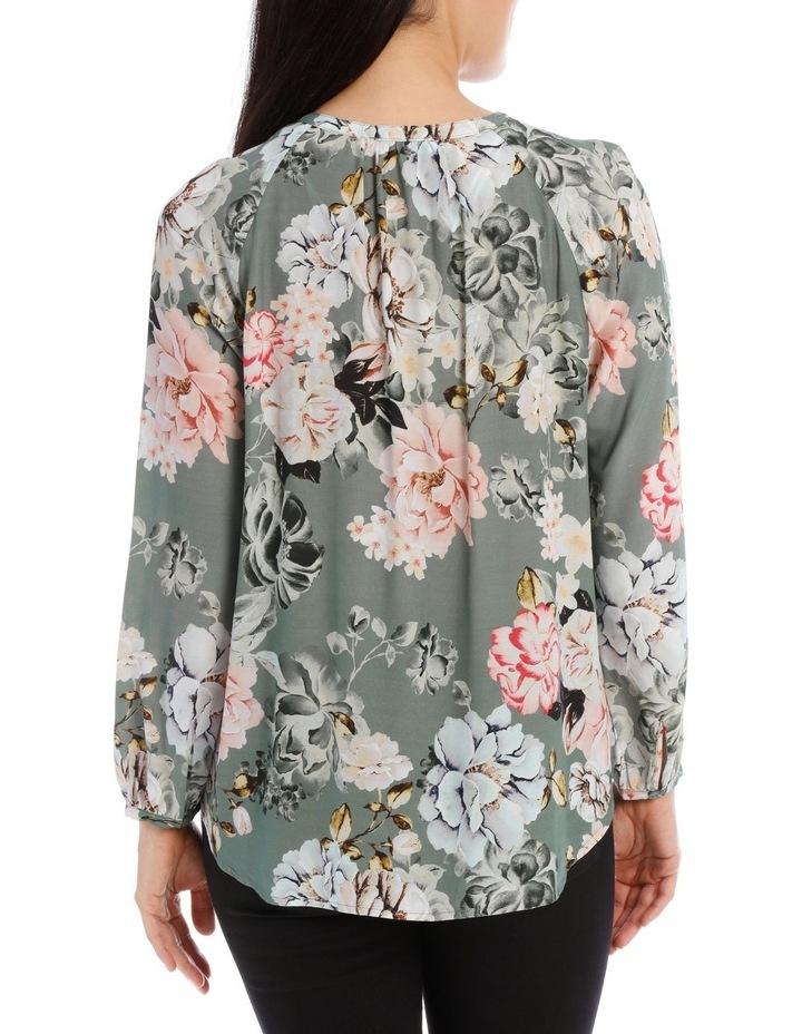 Long Sleeve Rose Print Shirt image 3