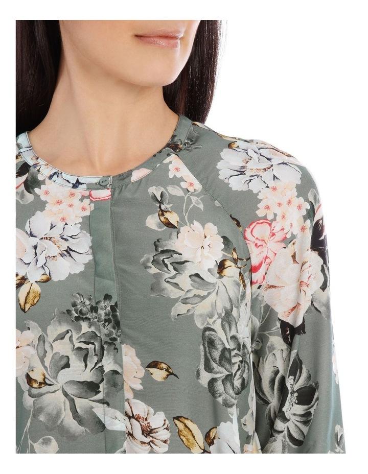 Long Sleeve Rose Print Shirt image 4