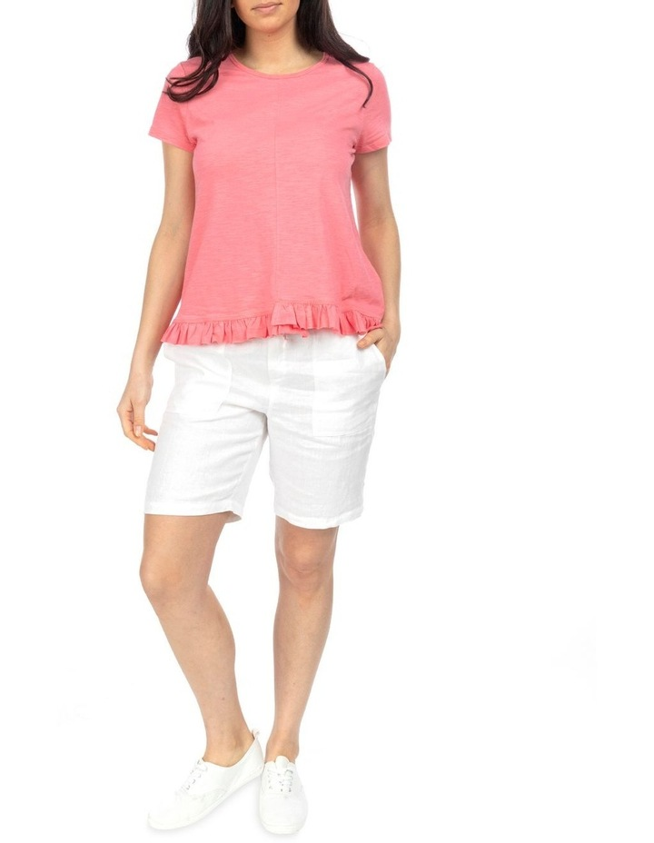 Short Sleeve Ruffle Hem Tee image 2